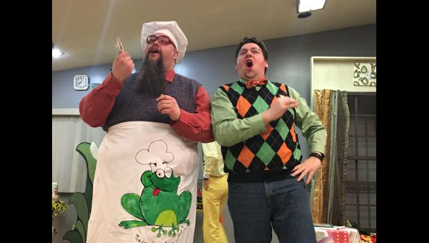 "Green Earth Players actors Shawn Kinsinger and Casey McKenzie play the roles of Frog and Toad, respectively, in the upcoming production of ""A Year with Frog and Toad,' which opens this weekend at the Palace Theatre in Luverne. Call 507-283-4339 for ticket information."