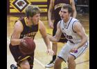 Ellsworth senior Trei Hinrichs scored 15 points and passed for three assists during Thursday's home loss to T-M-B.