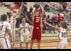 Luverne senior Cole Claussen tossed in 30 points during Friday's 67-64 home loss to JCC.