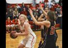 Luverne senior post Nicole Kneip scored 22 points and pulled down six rebounds during Friday's 56-34 win in Edgerton.
