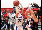 H-BC sophomore Mackenzie Voss came off the bench to score six points during Friday's 81-36 win in Edgerton.