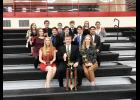 The Luverne High School speech team kicked off the 2020 season in Worthington Saturday with a second-place team finish. Students contributing points to the team score are (front, left) Nicole Hoogland, Gunnar Oldre, Alexa Chesley, (second) Sophia Lanoue, Megan Hansen, Parker Carbonneau, Luke Thorson, Seno Chanthalangsy, (back) Hannah Baker, Xavier Carbonneau, Griffen Jarchow, Chance Tunnissen, Josie Golla and Mia Wenzel.