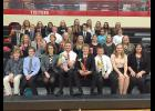 Luverne Speech Team members who traveled to Saturday's competition in Worthington include (front row, from left) Xavier Carbonneau, John Miller, Zoe Brown, Paul Witte, Derek Krueger, Gunnar Oldre, Courtney Wendland, Adriana Gonzalez, (second row) Alexa Chesley, Hannah Ehlers, Sage VerSteeg, Jacinda Hustoft, Jessica Anderson, Hannah Hoogland, Nicole Hoogland, Mikayla Wiederhoeft, (third row) Cameron Wessels, Shane Berning, Jonah Louwagie, Sophia Lanoue, Griffin Ahrendt, Jocy Cazeres, Destiny Matthiesen, (bac