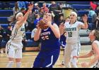 H-BC senior Kourtney Rozeboom found enough openings to score 11 points during Friday's home loss to Pipestone.