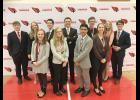 Eleven Luverne High School speech students earned medals at their invitational Saturday. Pictured in front, from left, are Hannah Baker, Melanie Rittenhouse, Seno Chanthalangsy, Solveig Tofteland, (back) Chance Tunnissen, Alexa Chesley, Parker Carbonneau, Gunnar Oldre, Xavier Carbonneau, Nicole Hoogland and Luke Thorson.
