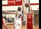 Luverne senior Cole Claussen tossed in a team-high 17 points during Tuesday's 66-63 home win over Martin Count West.