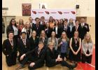 Twenty-four Luverne High School students earned individual honors Saturday at their own individual speech tournament. As a tradition, the host team does not vie for team honors. Individuals earning honors included (front row, from left) Chance Tunnissen, Shane Berning, (second row, kneeling) Meagan Hansen, Seno Chanthalangsy, Julia Ferguson, Alexa Chesley, Solveig Tofteland, Gretchen Jacobsma, Josie Golla, Melanie Rittenhouse, (third row) Adriana Gonzalez, Courtney Wendland, Xavier Carbonneau, Sage Ver Stee
