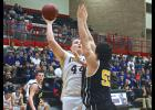 Adrian senio post Skylar Polzine tossed in 10 points during Saturday's season-ending loss to SWC in Worthington.