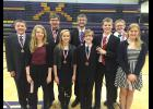 Taking home individual honors at the Montevideo Speech Invitational Saturday were (from left to right) Gunnar Oldre, Alexa Chesley, Knute Oldre, Shelbie Nath, Paul Witte III, Xavier Carbonneau, Derek Krueger, Jonah Louwagie, and Hannah Ehlers.
