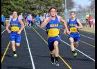 Adrian's Zach Bierman won the 100- and 200-meter dashes at the Luverne Meet Tuesday.