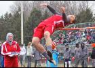 Luverne senior Eli Haugom placed sixth in the high jump during the Cardinal Relays Thursday.