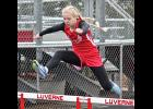 Regan Feit won the 300-meter hurdles during Saturday's Luverne Makeup Meet.