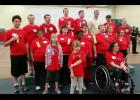 Olympic success Eighteen athletes from the surrounding area competed at the Area A Special Olympic Area 8 Track and Field Meet in Redwood Falls May 7. The local competitors collected 20 first-place ribbons, 16 second-place ribbons, 12 third-place ribbons and six fourth-place ribbons. Competitors include (front row, from left) Ariana Weidert, Kate Rolling, Katie Fick, (middle) Evan Ushijima, Jennifer Moller, Bethany Starling, Grace Runia, Alexander Nelson, Derek Deutsch, Alex Hartman, Erika Egdorf, (back) Br