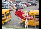 Luverne senior Jeremiah Dooyema placed third in the pole vault during Thursday's sub-section meet in Luverne,