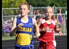 Moriah Bullerman qualified for section competition in the 1,600- and 3,200-meter runs during the South Sub-Section 3A Track and Field Championships in Luverne Thursday.