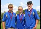 Adrian golfers Ryan Elias (left), Jada Elias (middle) and Collin Kemper (right) qualified for the state golf tournament in Marshall Wednesday.