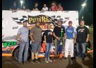 Colton Arends of Luverne won the USRA Stock Car A Feature race at Rapid Speedway in Rock Rapids, Iowa.