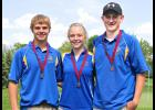 Three Adrian High School golfers capped their seasons at the Minnesota State Class A Golf Championships staged June 9-10 at the Pebble Lake Golf Club near Becker. Representing Adrian at the event were Collin Kemper (right), Ryan Elias (left) and Jada Elias (middle).