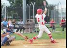 Luverne's Charlie Reisch takes a cut at the plate during Friday's home loss to Adrian.
