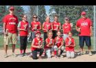 The Salon 75 10-and-Under softball team completed a 17-0 season over the weekend. Team members include (front row, from left) Josie Anderson, Kierra Binford, Makena Nelson, Morgan Jonas, (back) coach Corey Nelson, Cassi Chesley, Averill Sehr, Tori Serie, Emma Beyer, Addison Huiskes and coach Jamie Beyer. Missing is Anika Boll.