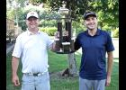 Luverne Country Club member Ryan Fick (left) and his guest, Ivanhoe's Adam Steffes, won the 35th version of the LCC Member-Guest Tournament Friday and Saturday. They are first-time champions.