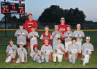 Luverne Community Education placed second in the regular season and won the Luverne Community Education Minor League baseball tournament title. Team members include (front row, from left) Masyn Akkerman, Riley Reese, Cameron Fenske, Ryan Fick, Jaden Reisch, Brendan Eidem, Tyson Cowell, (middle) Andy Halverson, Landon Ahrendt, Holden Overgaard, Layke Miller, Gavin Reisch, Austin Ossefoort, (back) coaches Scott Overgaard and Brian Miller. Missing is Matthew Rogers.