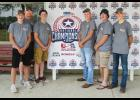 Five Luverne High School students participated at the first USA High School Clay Target National Championship July 13-15 in Mason, Michigan. They are (from left) Colton Schutz, coach Scott Loosbrock, Peter Baustian, Jaden Knips, Marshal Dammann and Hunter Ahrendt.