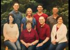 Pat and Lowell Ahrendt (front row center), Rock County's 2015 Farm Family of the Year, celebrated their 50th wedding anniversary with their six children earlier this year. Pictured in front from left are Melissa, Pat, Lowell, Lisa DeBoer, (back) Jeff, Michelle, Troy and Brad.