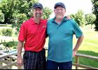 Chris Nowatzki (left) won the low gross championship for the third consecutive year at the Luverne Country Club's Seniors' Club Tournament Saturday. Ivan Kooiker (right) won the low net title.
