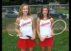Luverne's Samantha Pierce (left) and Joci Oye (right) made the 2015 All-Big South Conference Western Division Tennis Team.
