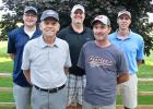Six golfers won flight titles during the 78th Men's Club Tournament at the Luverne Country Club over the weekend. They are (from left) Skyler Hoiland, Dave Iverson, Evan Verbrugge, Barry Rieck and Mike Smith. Not pictured is Jason Heard, who won the fourth flight.