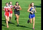 Adrian senior Moriah Bullerman (right) started off the cross country season in solid fashion Aug. 29 by placing ninth individually at the Mountain Lake Invitational. The Adrian girls placed ninth as a team at the meet.