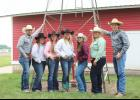 Local 4-Hers at the State Horse Show were (from left) Ayden Bonnett, Mallie Fick, Morgan Bonnett, Kallie Chapa, Kennedy Safar, Kellie VanDerBrink and Cash Bonnett.
