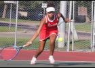 Mia Wenzel posted a win a fourth singles to help the Cardinal tennis team notch a 6-1 victory over United South Central Monday in Luverne.