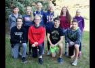 Ten members of the Luverne High School cross country program made the all-conference team or earned honorable mention status during the Big South Conference Cross Country Meet in Redwood Falls Oct. 16. They are (kneeling, from left) Austin Winter, Shane Berning, Dalton DeSollar, Brayden Tofteland, (back) Tiana Lais, Brooklynn Ver Steeg, Elizabeth Wagner, Regan Feit, Tenley Nelson and Jenna DeBates.