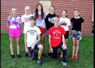 Eighth members of the Luverne cross country program earned honors during the Big South Conference meet in St. Peter Oct. 17 in St. Peter. They are (front row, from left) Jonah Friedrichsen, Shane Berning, (back) Brooklynn Ver Steeg, Regan Feit, Gabrielle Ferrell, Autumn Nath, Tenley Nelson and Tiana Lais.