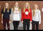 Luverne High School tennis players (from left) Elise Jarchow, Rozilyn Oye, Carissa Cunningham and Ainslie Robinson recently received postseason honors for their on-court efforts this fall from BSC coaches.