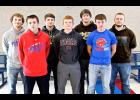 Seven members of the Hills-Beaver Creek High School football program received postseason honors from South District Western Division officials this week. They are (from left) Luke LaRock, Hunter Bork, Bailey Susie, Gavin Wysong, Jax Wysong, Tyson Bork and Garrett Raymon.