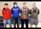 Six Hills-Beaver Creek football players received postseason honors last week. Preston Maassen (left), Jesse Elbers (second, right), Garrett Raymon (right) and Trenton Bass (below) made the 2017 South District Western Division All-District Football Team. Jax Wysong (second, left) and Gavin Wysong (below) received honorable mention.