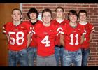 Luverne football players Payne Bonnett (front, left), Declan Beers (front, middle), Charlie Reisch (front, right) and Tyler Reisdorfer (back, right) made the 2017 South Central District Western Division All-District Football Team. Max Skattum (back, left) and Nathan Nekali (back, middle) drew honorable mention.
