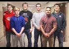 Six members of the Luverne High School football program received postseason honors last week. They are (from left) Jeremiah Dooyema, Kasyn Kruse, Logan Stratton, Chris Jelken, Solomon Nielsen and Cade VerSteeg.