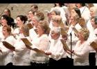 Among the members of Saturday night's Carnegie Minstrels Choir are (front, from left) Marlene Wassenaar, Luella Voigt, Denice Dirks, Betty Mann, Sue Skattum, (second row) Katie Overvaag, Christy Loosbrock, Linda Iverson, Janice Nelson, Nancy Huisman, Dolly Talbert, (third row) Jane Wellington, Haylee Overvaag, Gayle Stegemann, Shannon McCary and Karen Jepperson.