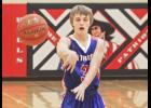 H-BC junior guard Easton Harnack delivers a pass during Thursday's home win over Fulda.