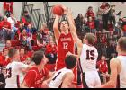 Luverne junior Isaiah Bartels pumped in 26 points during Friday's home loss to RWV.