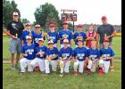 Lewis Family Drug placed second in the regular season and won the Luverne Community Education Major League Baseball Tournament title. Team members include (front row, from left) Connor Overgaard, Colin Schoeneman, Gavyn Boll, Griffen Jarchow, Gavin Reisch, Marcus Feit, Hunter Gaffaney, (back) coach Chad Overgaard, Jayson Delfs, Kaden Anderson, Riley Anderson, Bailey Cowell, Ben Jarchow, John Miller and coach Scott Anderson.