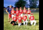 McClure Electric placed second in the 2020 Major League Baseball tournament. Pictured are (front, left) Aiden Hamm, Jesse Vis, Keegan Jessen, Brenden Snyders; (back) coach Mike Buss, Ben Hartquist, Landyn Lais, Kasey Buss, Brody Goembel and Maddux Domagala.